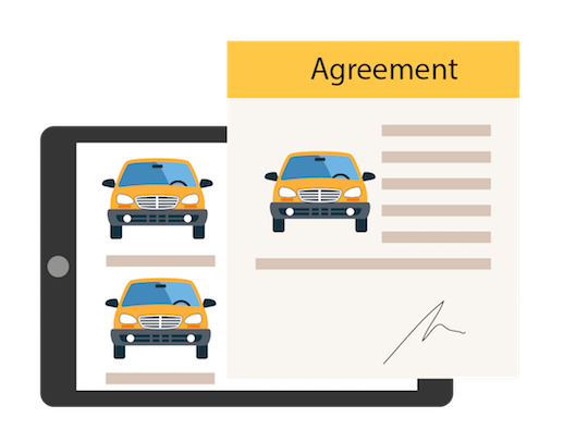 agreement form for automotive